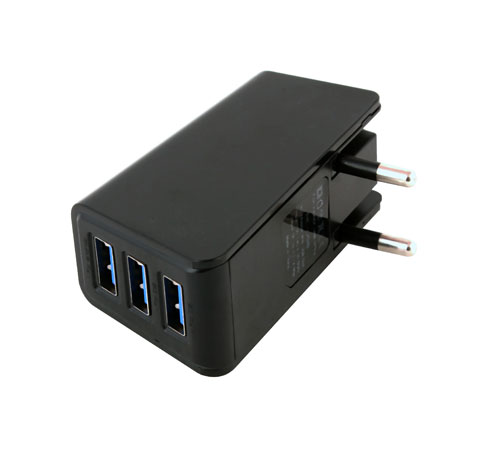 3 Port USB Travel Charger
